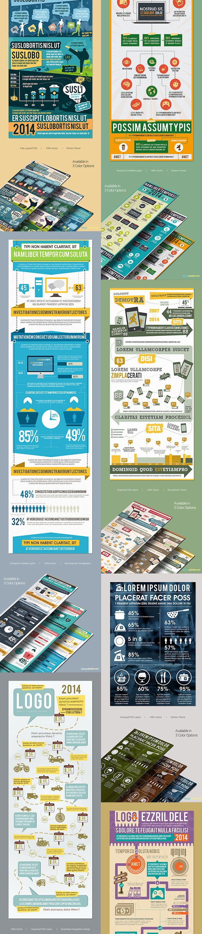 Mega Bundle of 105 Incredible Infographic Templates - only $27 ...