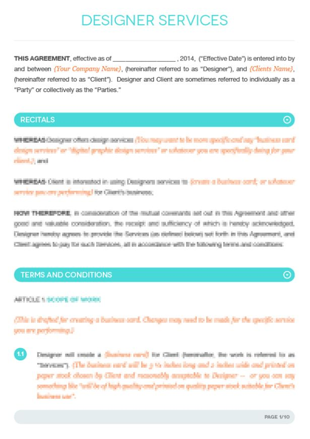 Fashion Designer Contract Template Google Search Logo Ideas Web Design Contract Templates