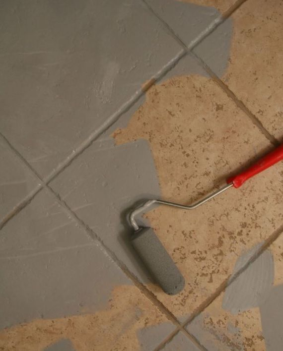 Pintura piso ceramico terrazas en 2019 for Renovar azulejo bano concreto cera
