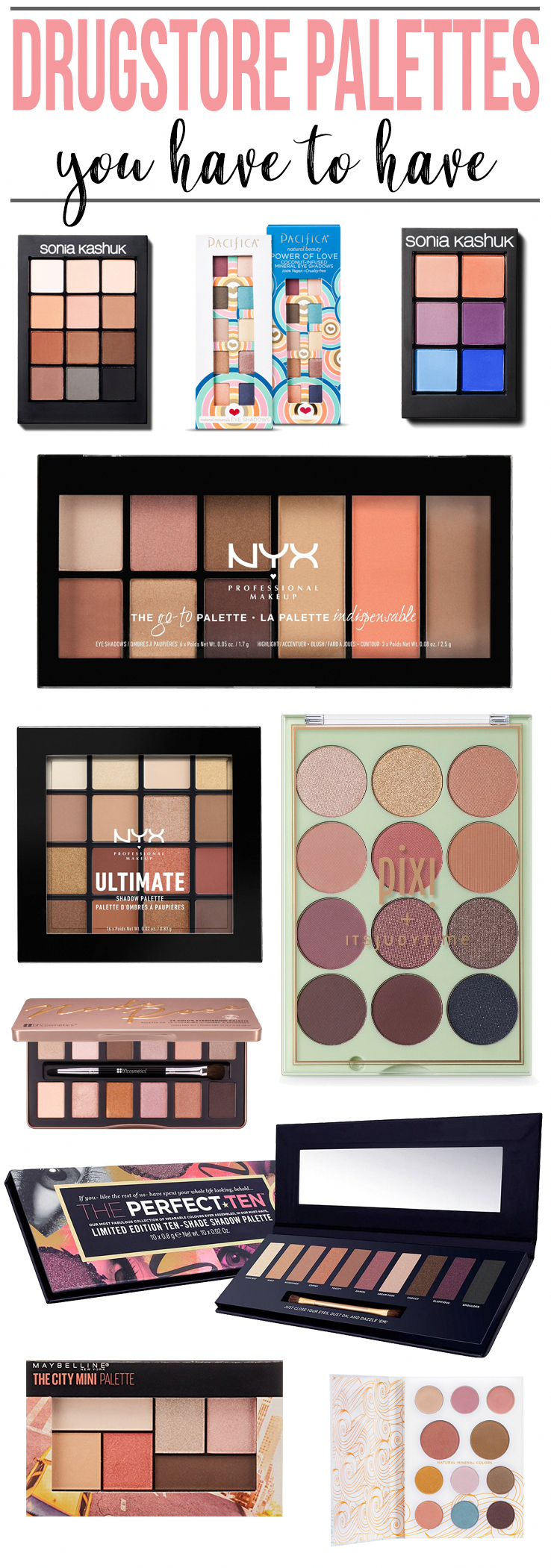 Drugstore Eyeshadow Palettes You Have To Have Best
