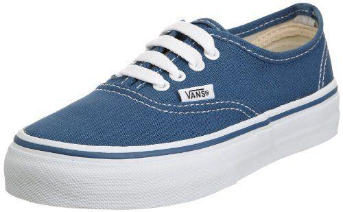3b34e47893 Vans Kid s Authentic Skate Shoe (Toddler) Navy White Vans.  29.90 ...