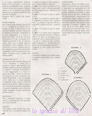 lo spazio di lilla: Fiori crochet nel vaso e schemi.../Crochet flowers in a pot., and patterns..