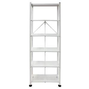 Origami 6 Tier Folding Multipurpose Bookcase In White Rb 03 The Home Depot Shelves Bookcase Shelving
