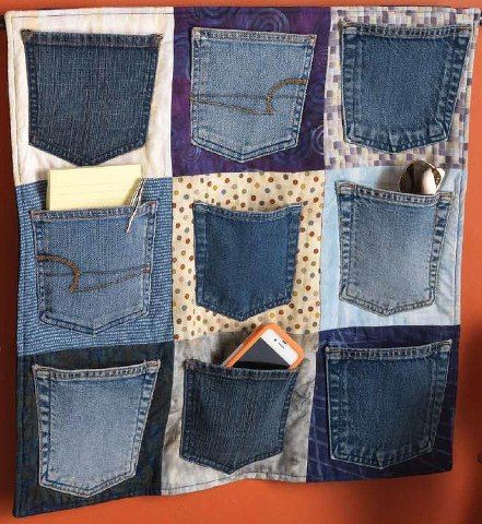 Denim Pocket Wall Organizer