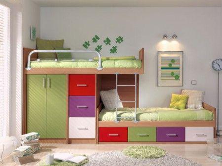 Ahorra espacio cunas camas y camarotes en melamina con for Cama ropero