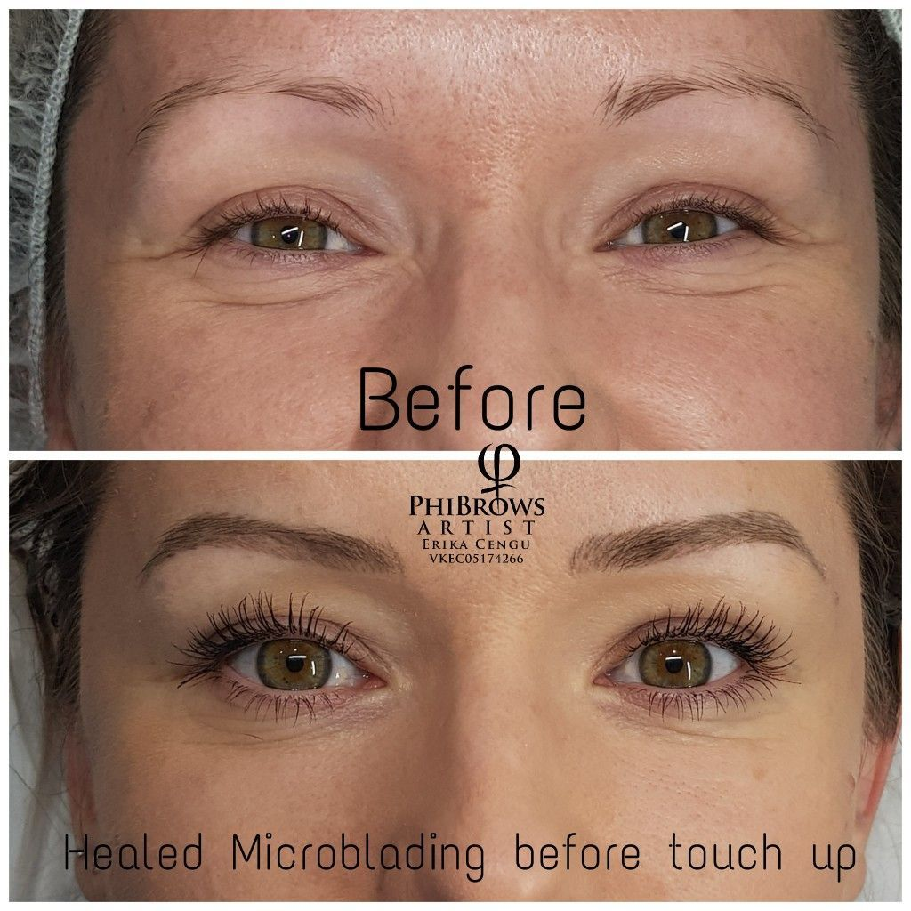 Healed Microblading derby before touch up . Microblading