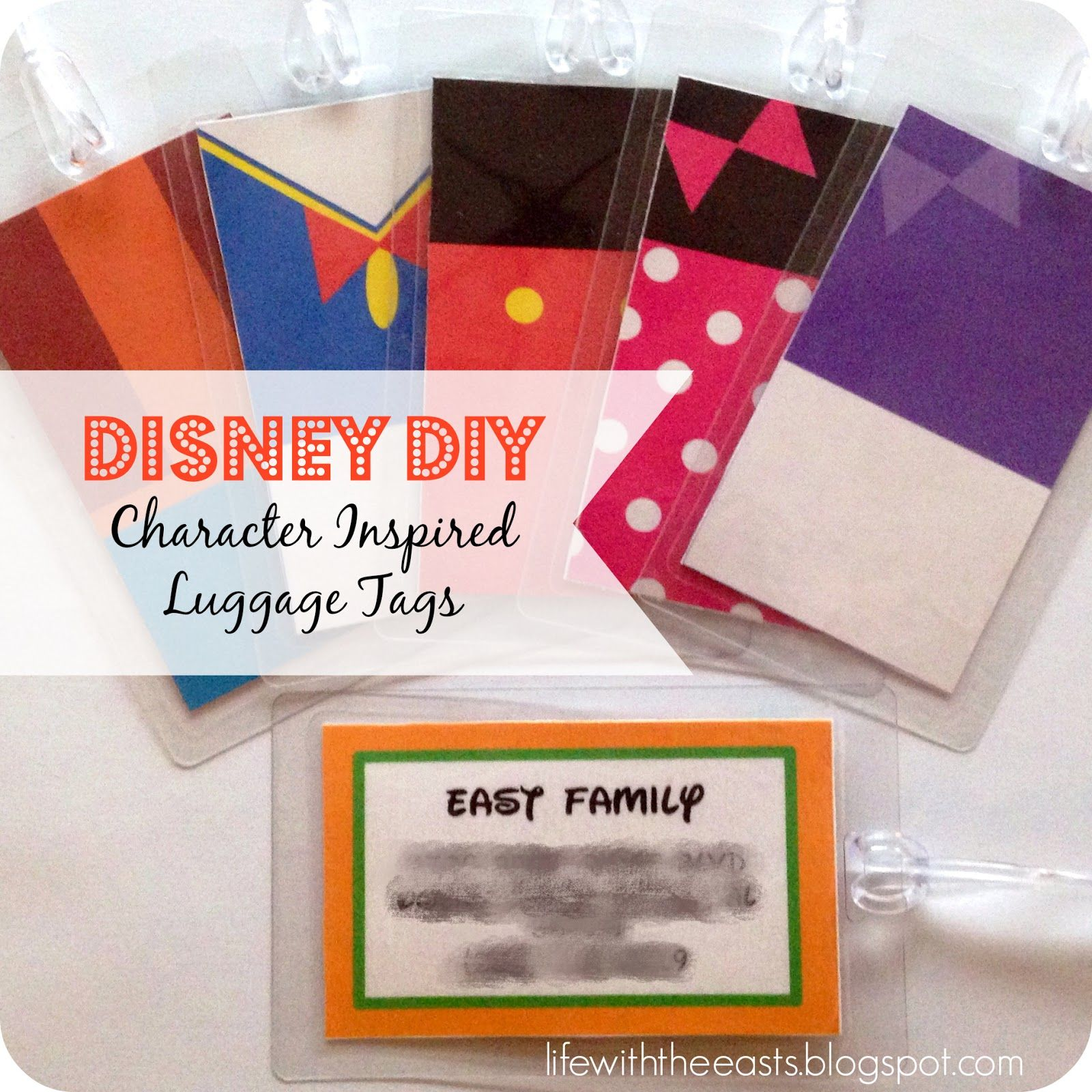 Kelly East Diy Disney Luggage Tags Crafts Pinterest Disney