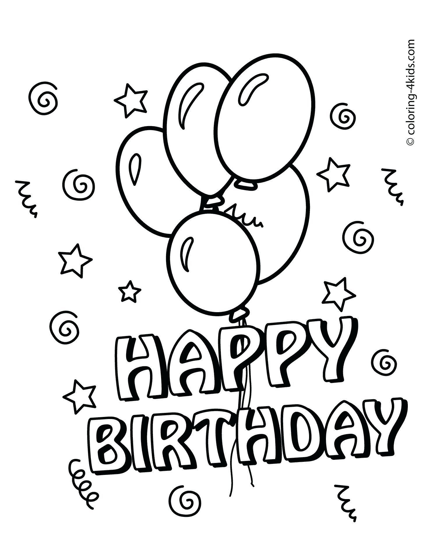 First Birthday Coloring Pages Coloring Pages Coloring Book Birthdayardolor In 2020 Happy Birthday Coloring Pages Coloring Birthday Cards Happy Birthday Cards Printable