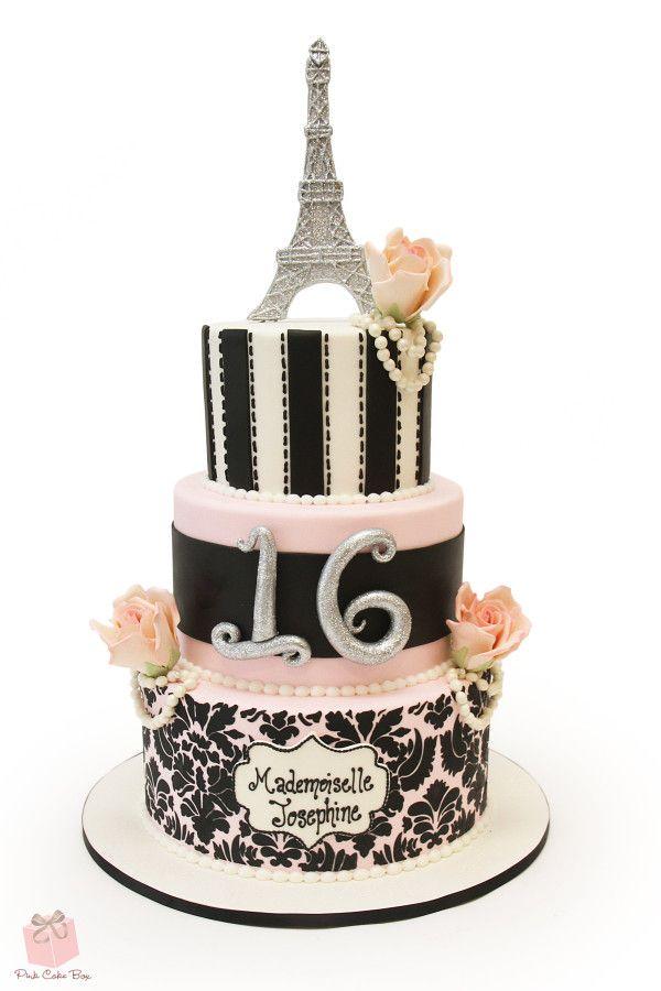 Sweet 16 Parisian Themed Cake 187 Sweet 16 Cakes Sweet 16