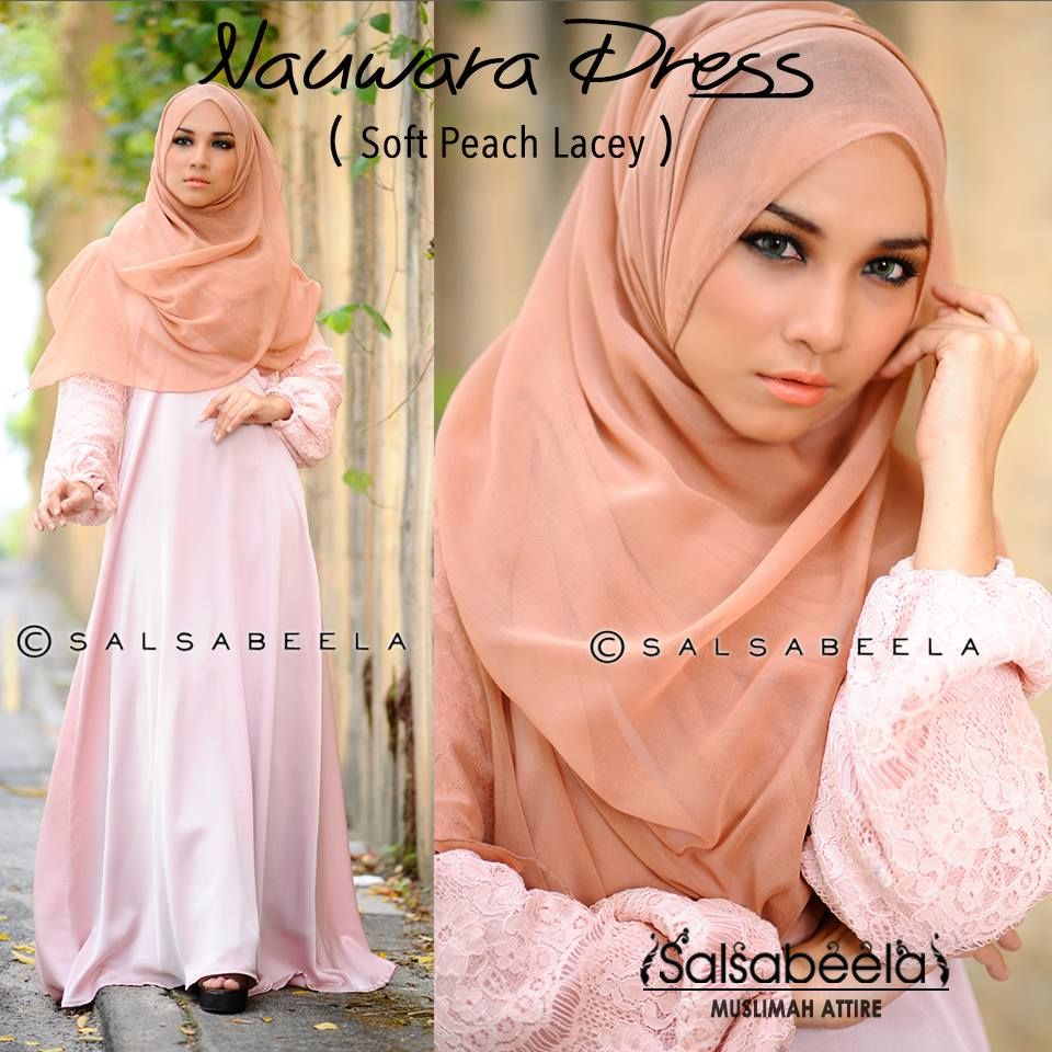 Muslimah Beige Pink Dress Hijab Fashion Pinterest Pink Dress