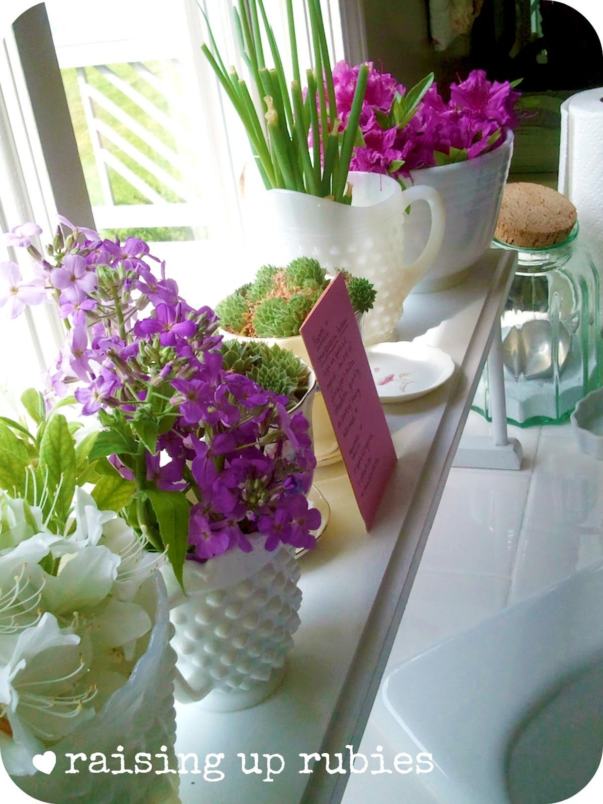 Kitchen window ledge  raising up rubies love this kitchen window ledge for herbs flowers