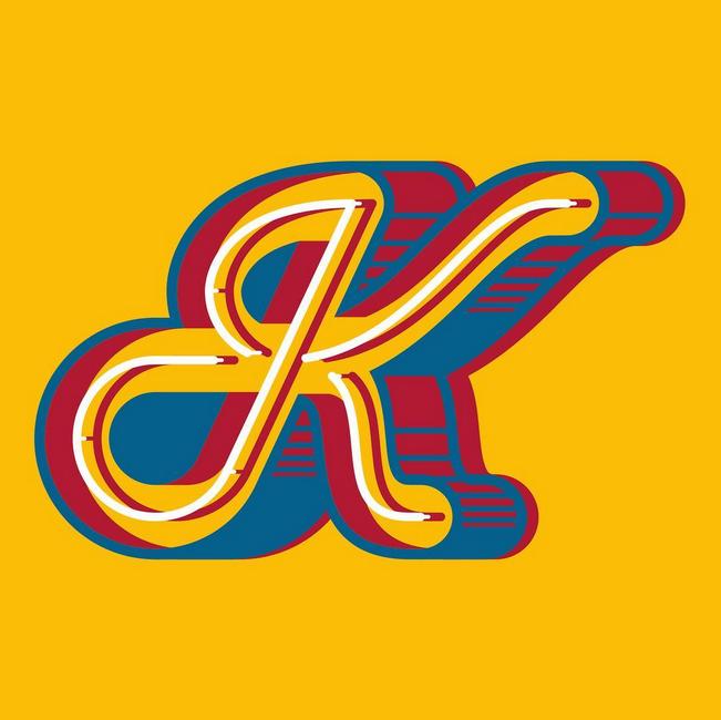 Letter K ♥ Drop cap letters, Sport team logos, Lettering
