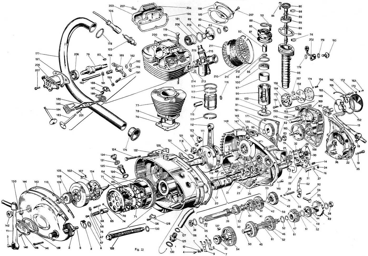 Vintage Car Motor Schematic