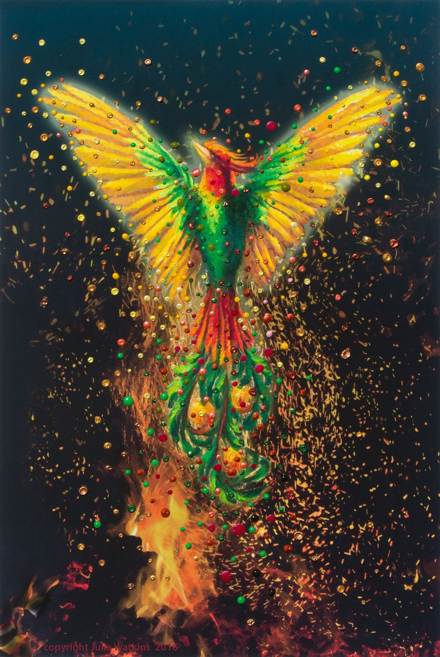 Phoenix Rising Energy Painting Giclee Print in 2019