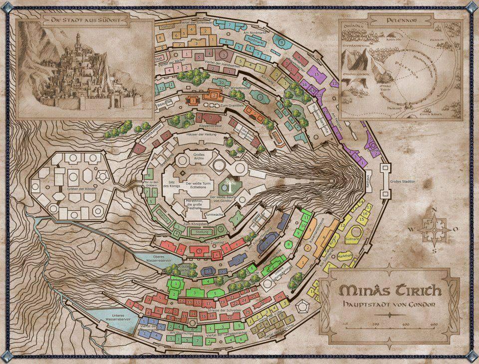 Minas Tirith Karte