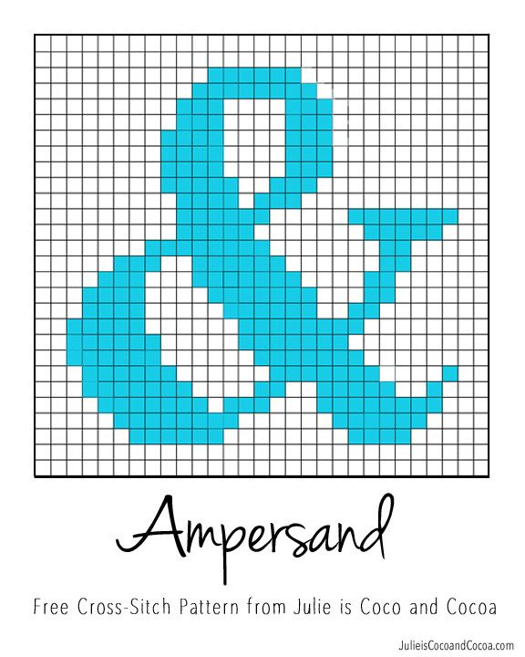 Ampersand Free Cross Stitch Pattern Pinterest Free Cross Stitch