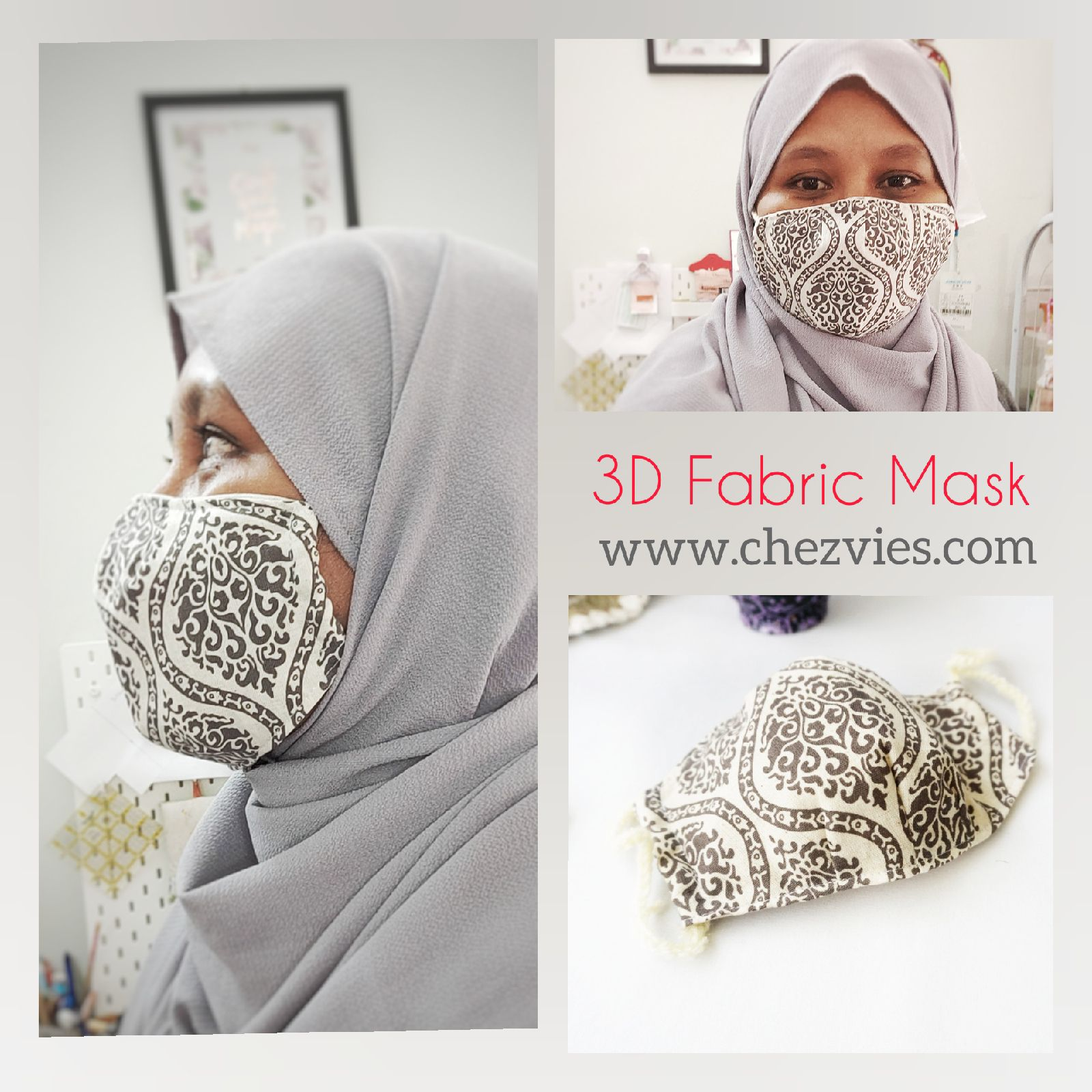 Pdf Pattern 3 D Fabric Dust Mask With Filter Pocket In 2020