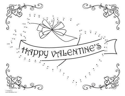 Valentine's Day Coloring Pages & Dot to Dot Sheets - Itsy Bitsy Fun | 372x482