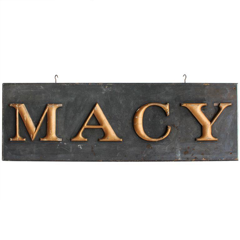 1900 S Gold Leaf Letters Sign Macy 1stdibs Com Antique Trade Sign Letter Sign Vintage Signs