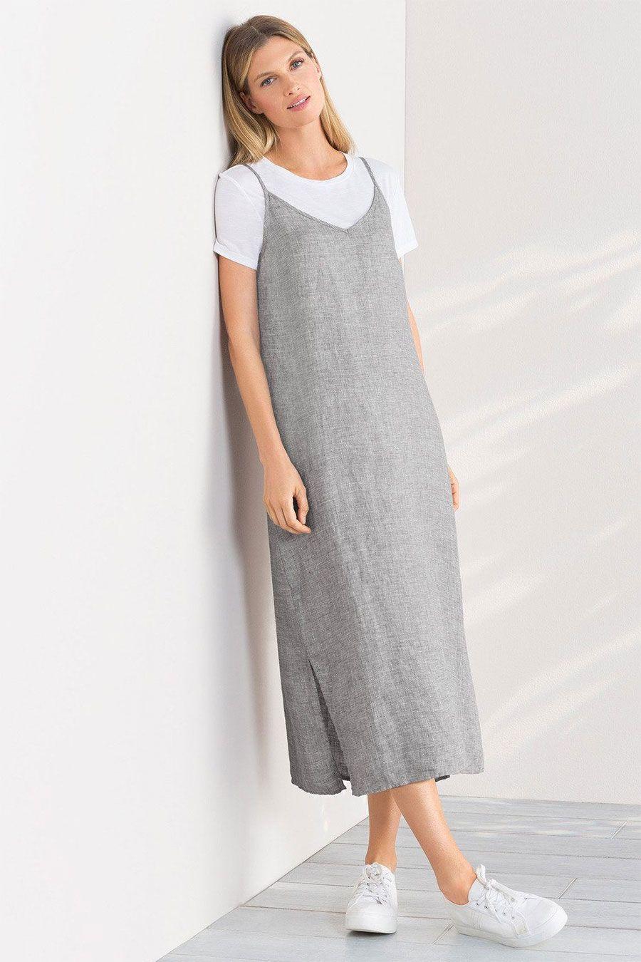 Grace Hill Linen Slip Dress