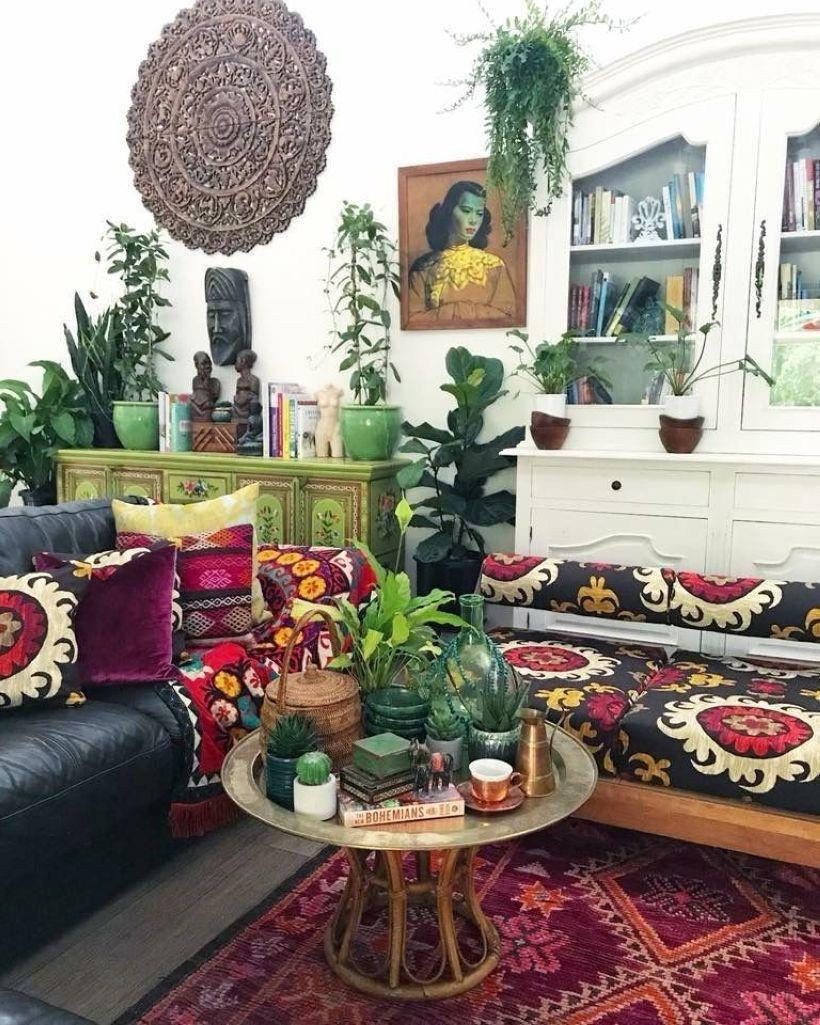 47 Romantic Bohemian Style Living Room Design Ideas ...