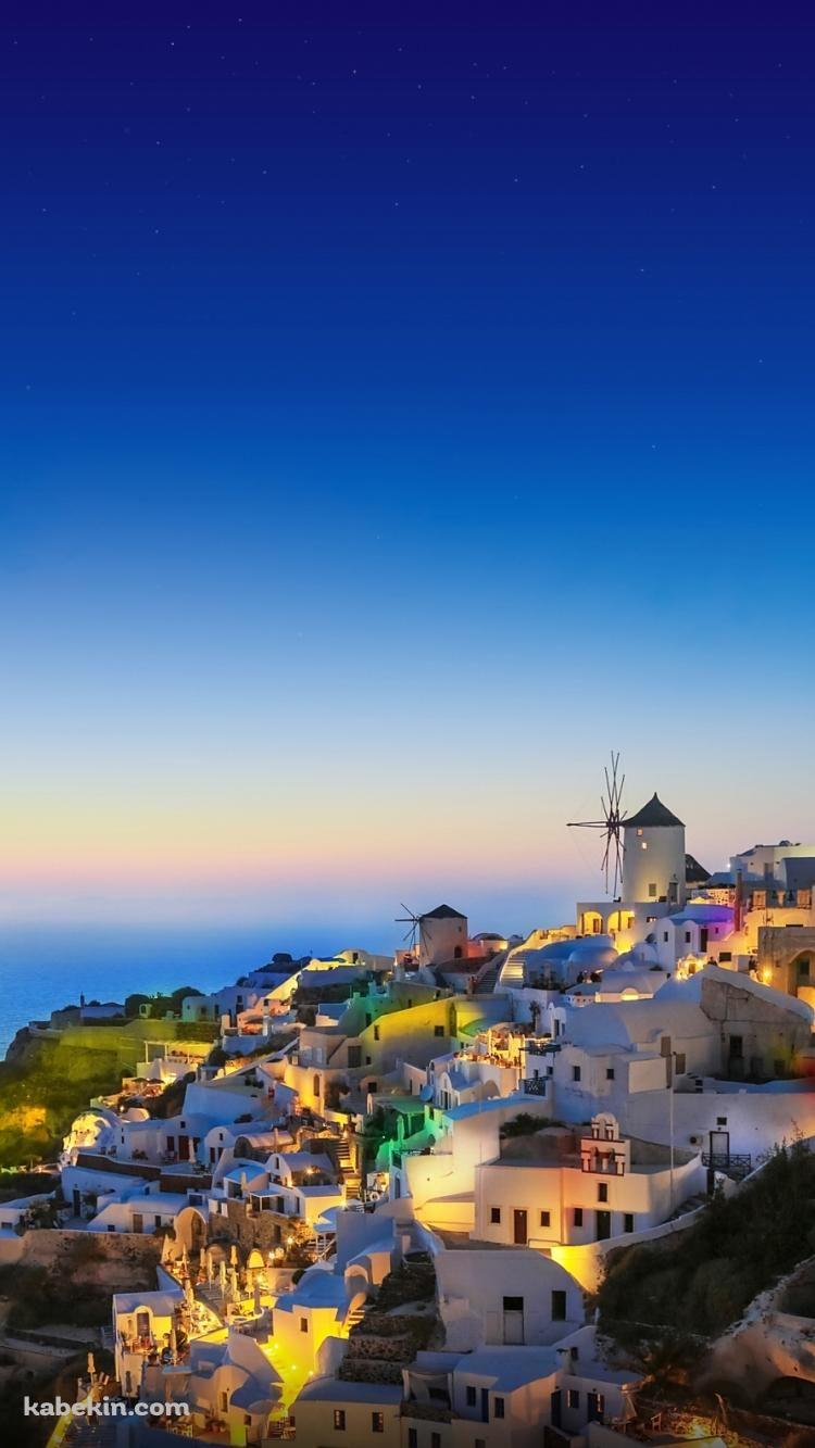 夜が明ける海外の街並みのiphone壁紙 風景 美しい自然の風景