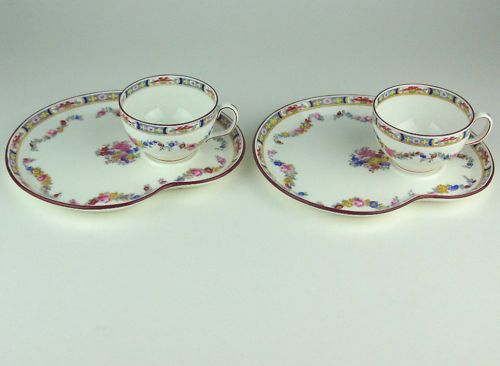 2 x TENNIS PLATES & TEA CUPS MINTON ROSE A4807