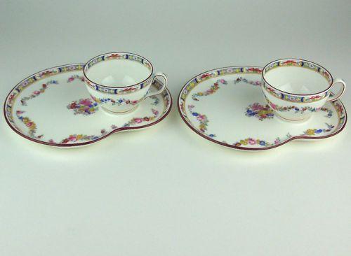 2 x TENNIS PLATES & TEA CUPS MINTON ROSE A4807