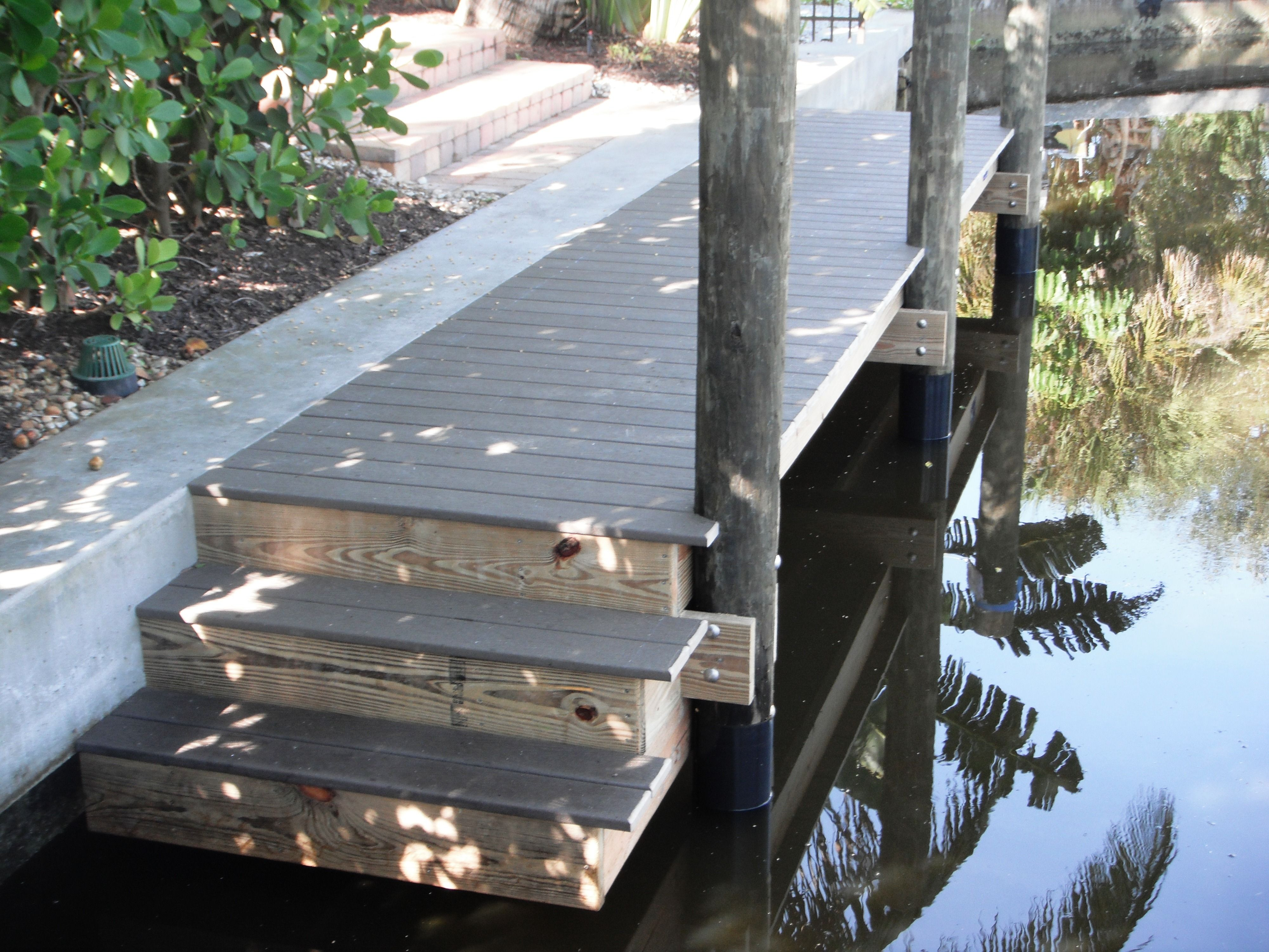 Small Boat Dock With Trex Composite Decking And Stainless Steel Hardware And Step Down Area For Kayaks Boat Dock Deck Outdoor Flooring