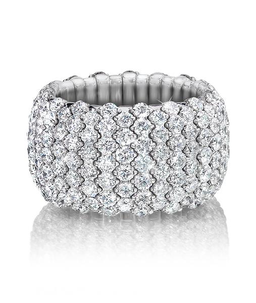 Cellini Jewelers: wide elastic ring