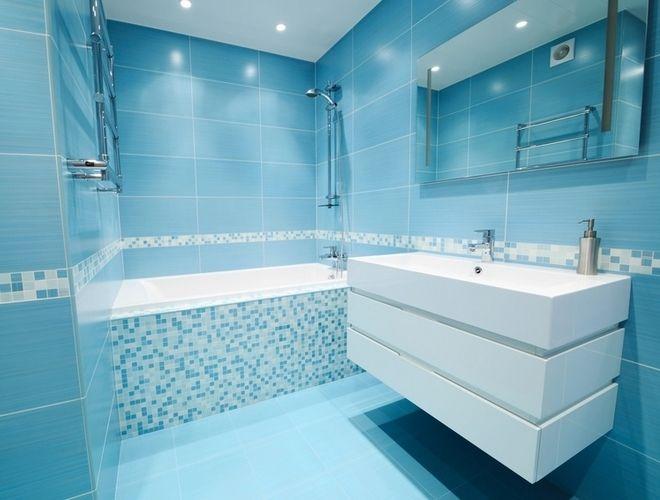 Id e salle de bain bleu turquoise et blanc salles de for Bleu salle de bain