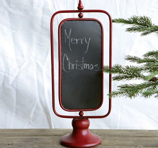 Tabletop Chalkboard On A Stand Small Chalkboard Signs Small Chalkboard Red Home Decor