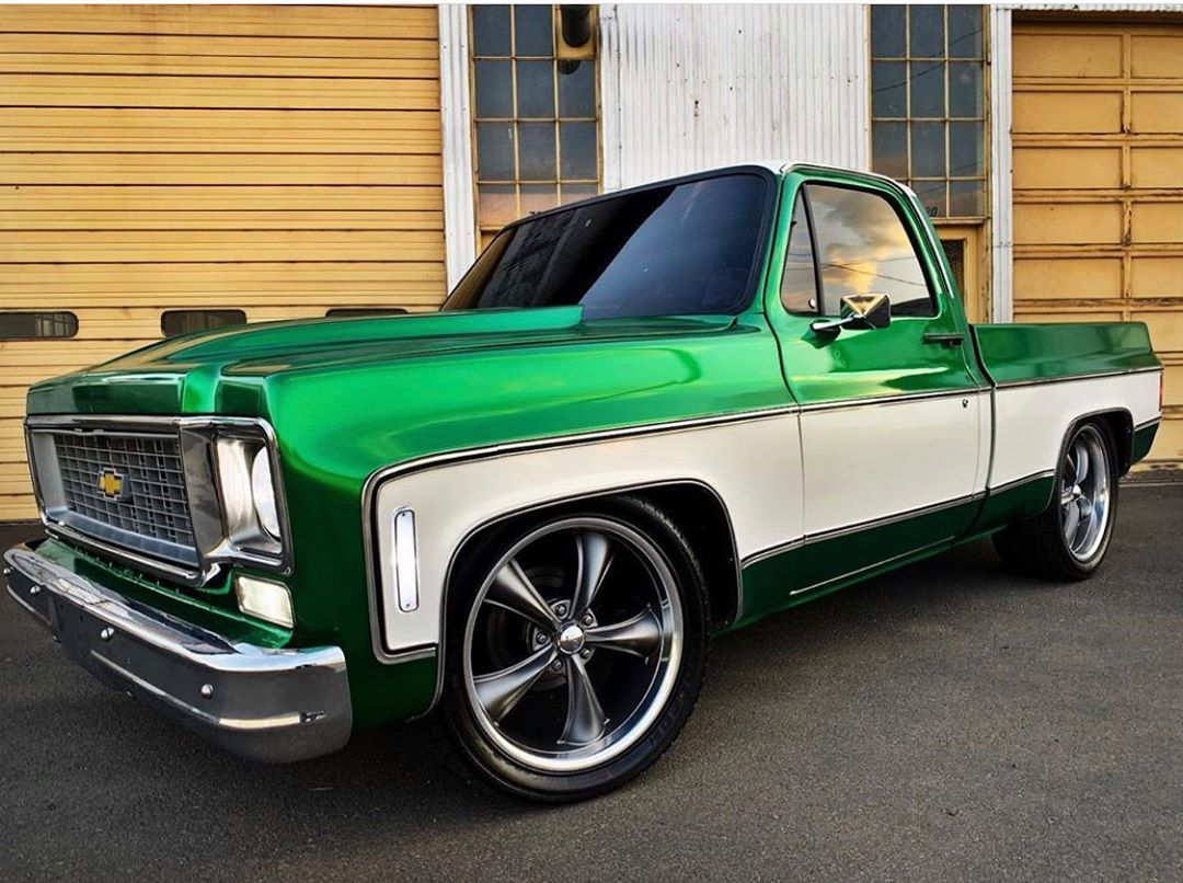 Wow this squarebody looks on point! For being a wrap job