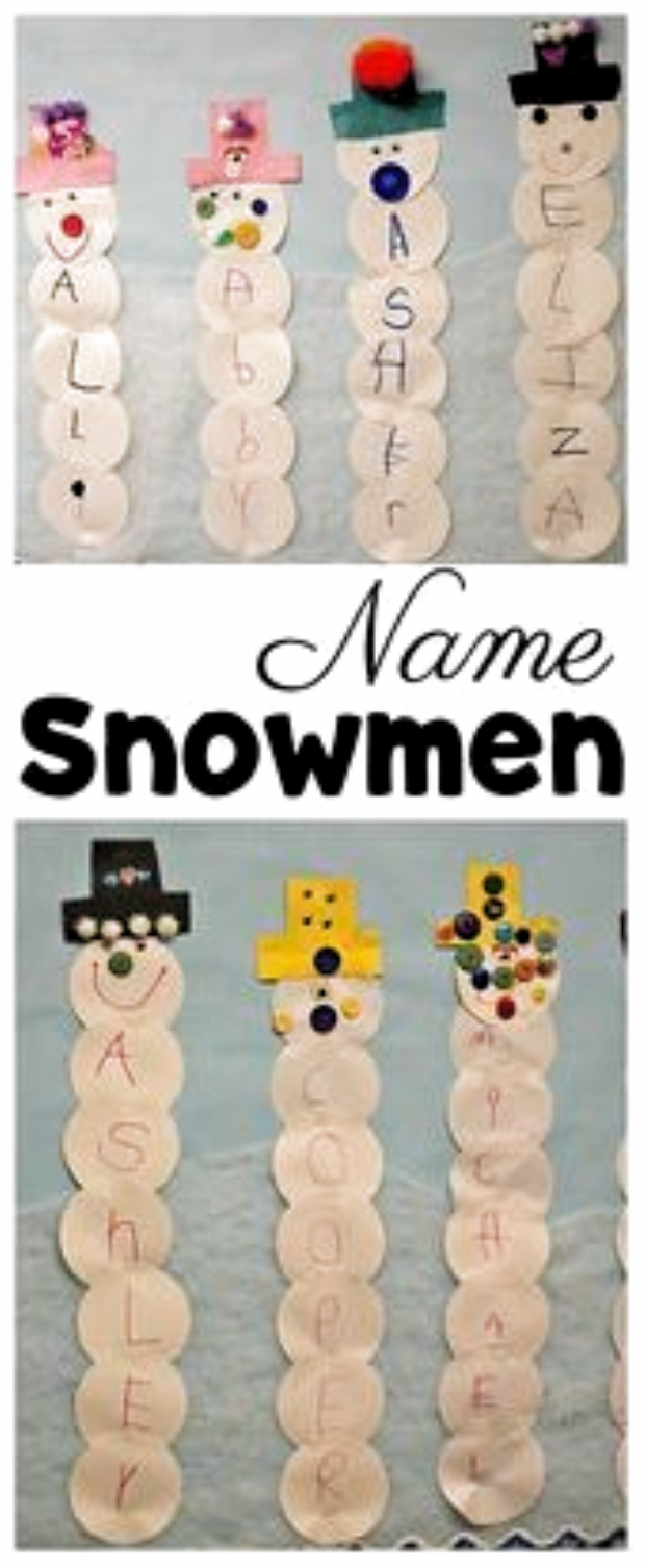 Name Snowman Preschool Craft and Free Printable - #Craft #Free #Preschool #Printable #snowman #snowmanname Name Snowman Preschool Craft and Free Printable - #Craft #Free #Preschool #Printable #snowman