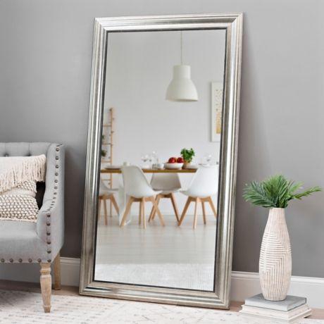 Champagne Pewter Edge Framed Mirror, 38x68 in | Big floor ... on Floor Mirrors Decorative Kirklands id=92694