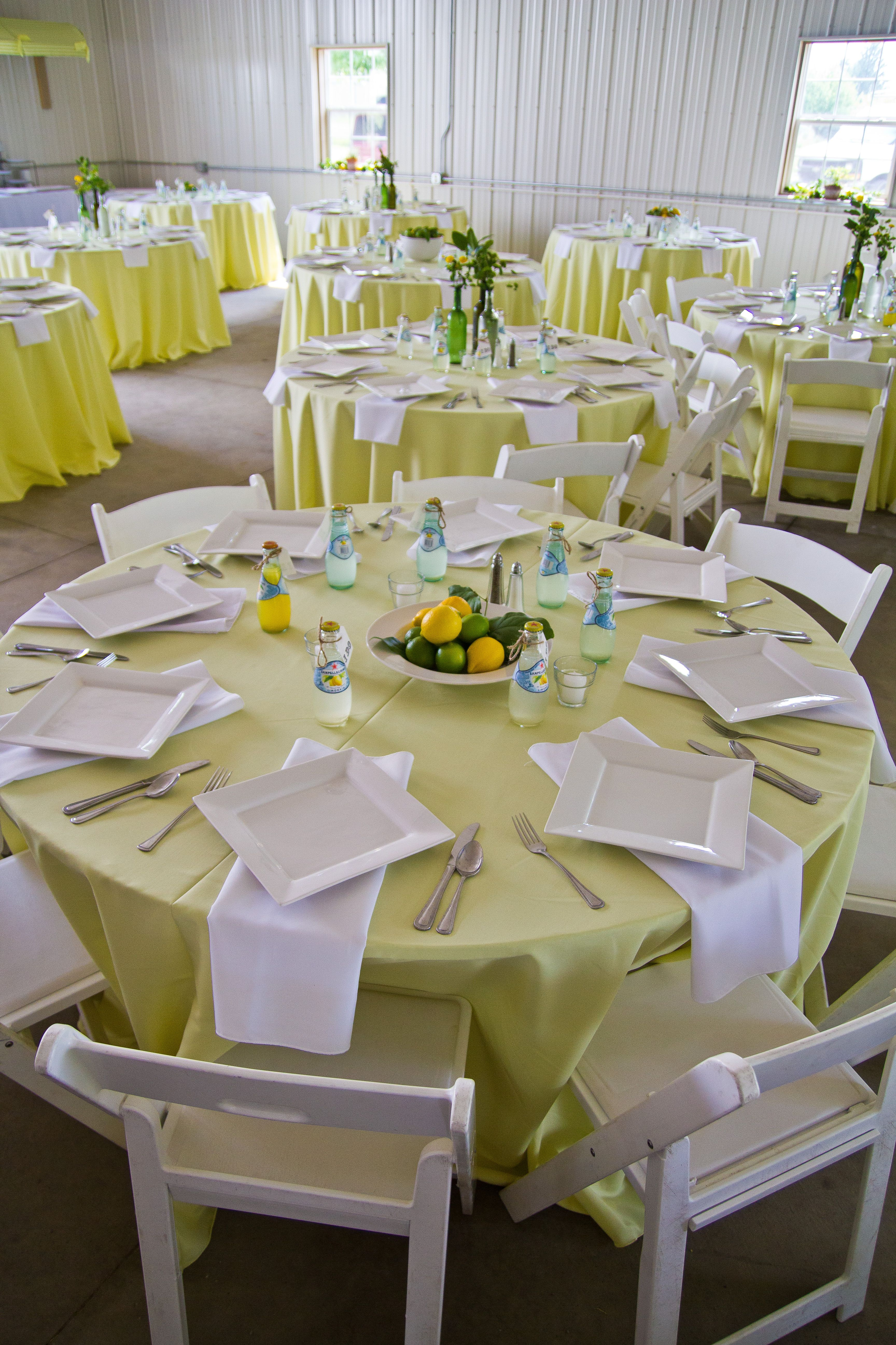 Outdoor Summer Wedding Table Settings In Yellow The Place I Put