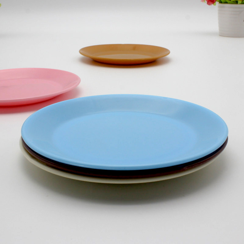 Colorful Food Grade Plastic Tableware Plate Snack Plate Environmentally Friendly Round Plate Snacks Melon Seeds Plate Dish