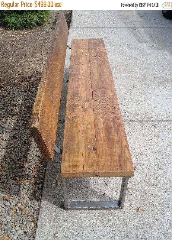 Limited Time Sale 10 Off 5 Ft Bench With Angle By Mthoodwoodworks