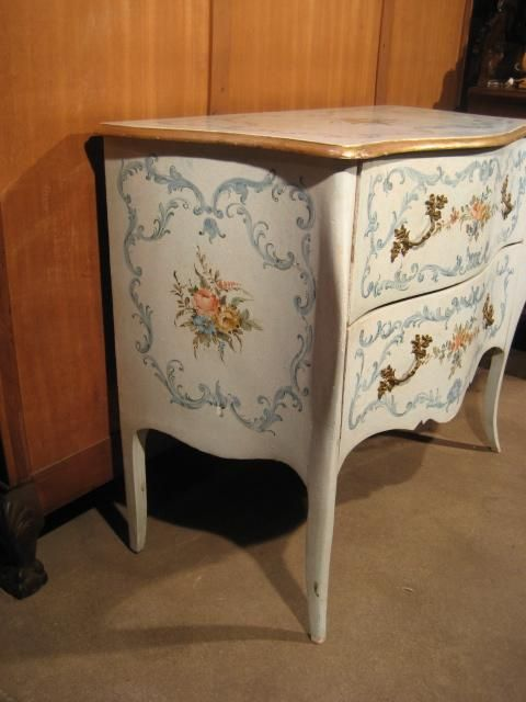Antique Italian Hand Painted Chest - Furniture