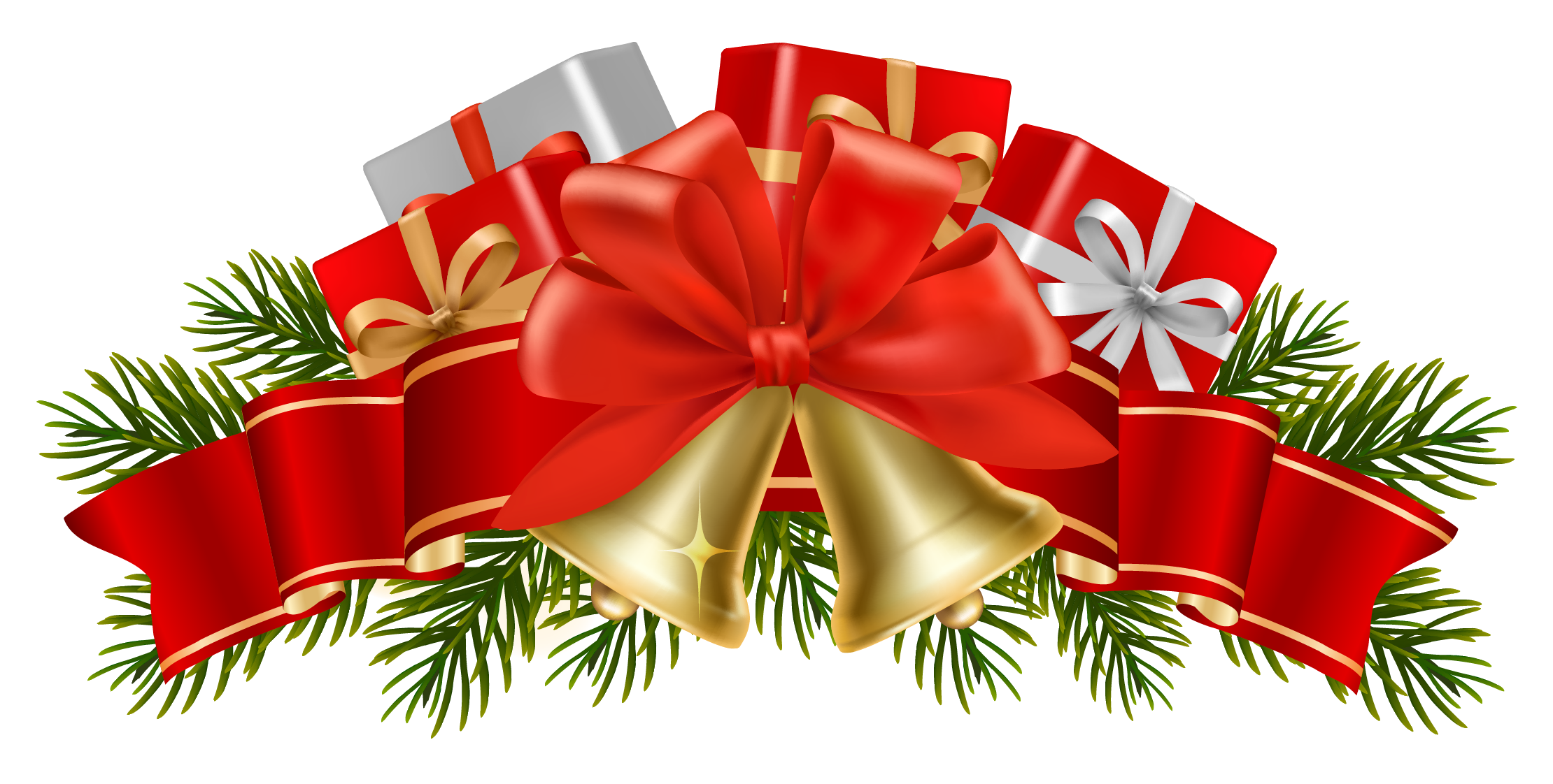 Christmas decorations images clipart - Find This Pin And More On Store Front Decorations Transparent Christmas Decor With Bells Png Clipart