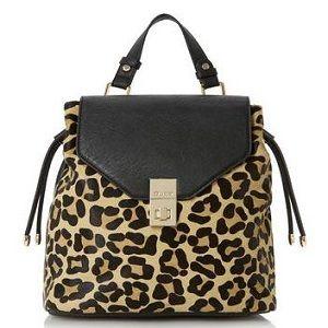 5. Dune Leopard Pony Backpack