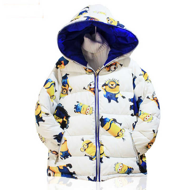4b104a30fc15 New 2015 despicable me minion 2 boys winter coat baby girls clothes ...