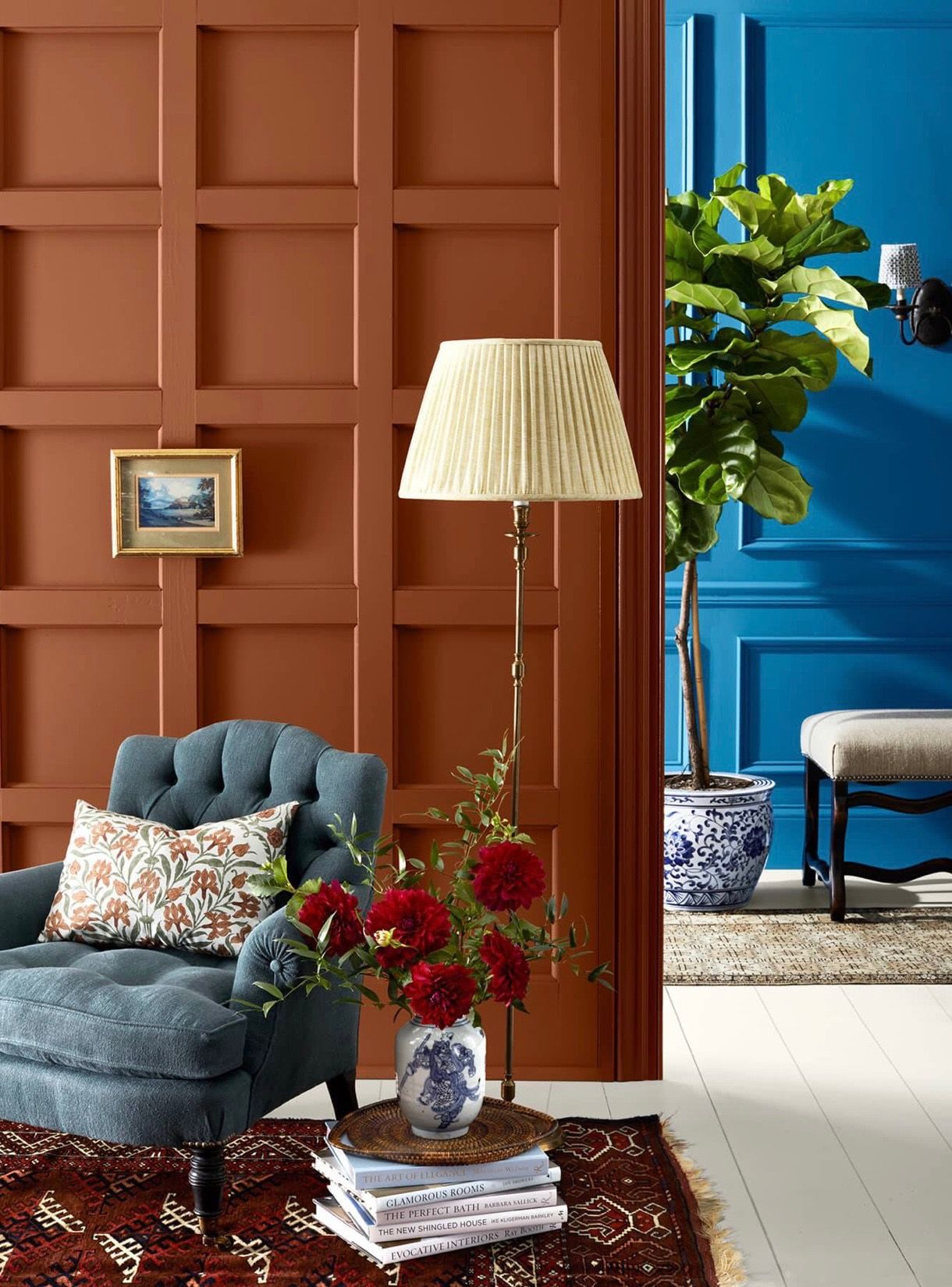 Design Your Own Living Room Free: Sherwin-Williams Pennywise And Blue Plate