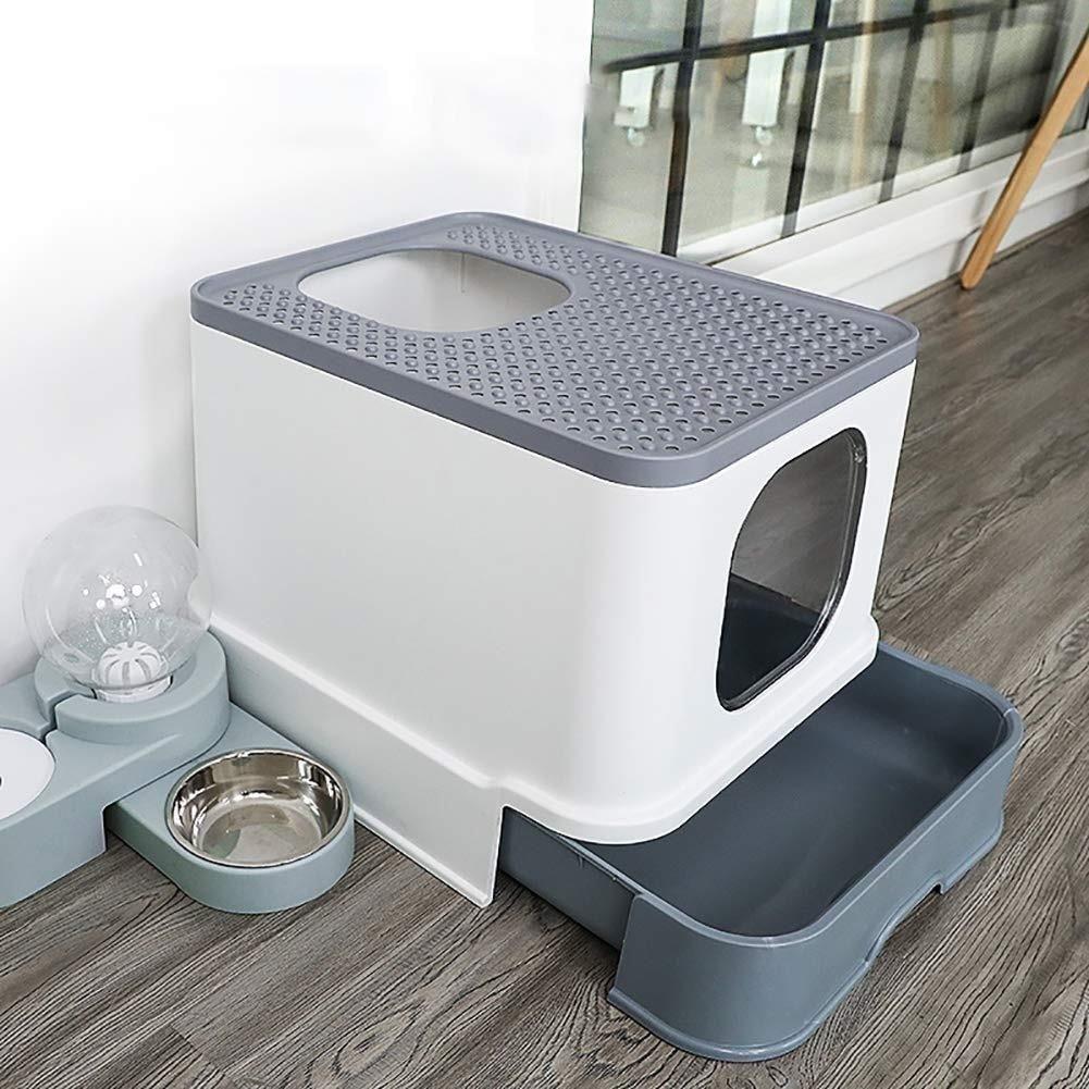 Cat Litter Box Top Entry Cat Sandbox Large Capacity Toilet
