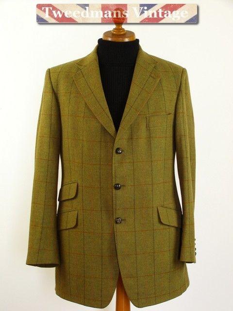 Scottish Tweed Mens Hacking Jacket Hunters Of Brora