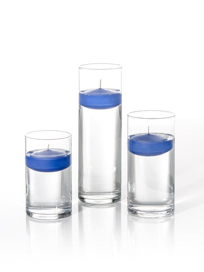 3 Floating Candles And Cylinder Vases Set Of 18 Wok Pinterest