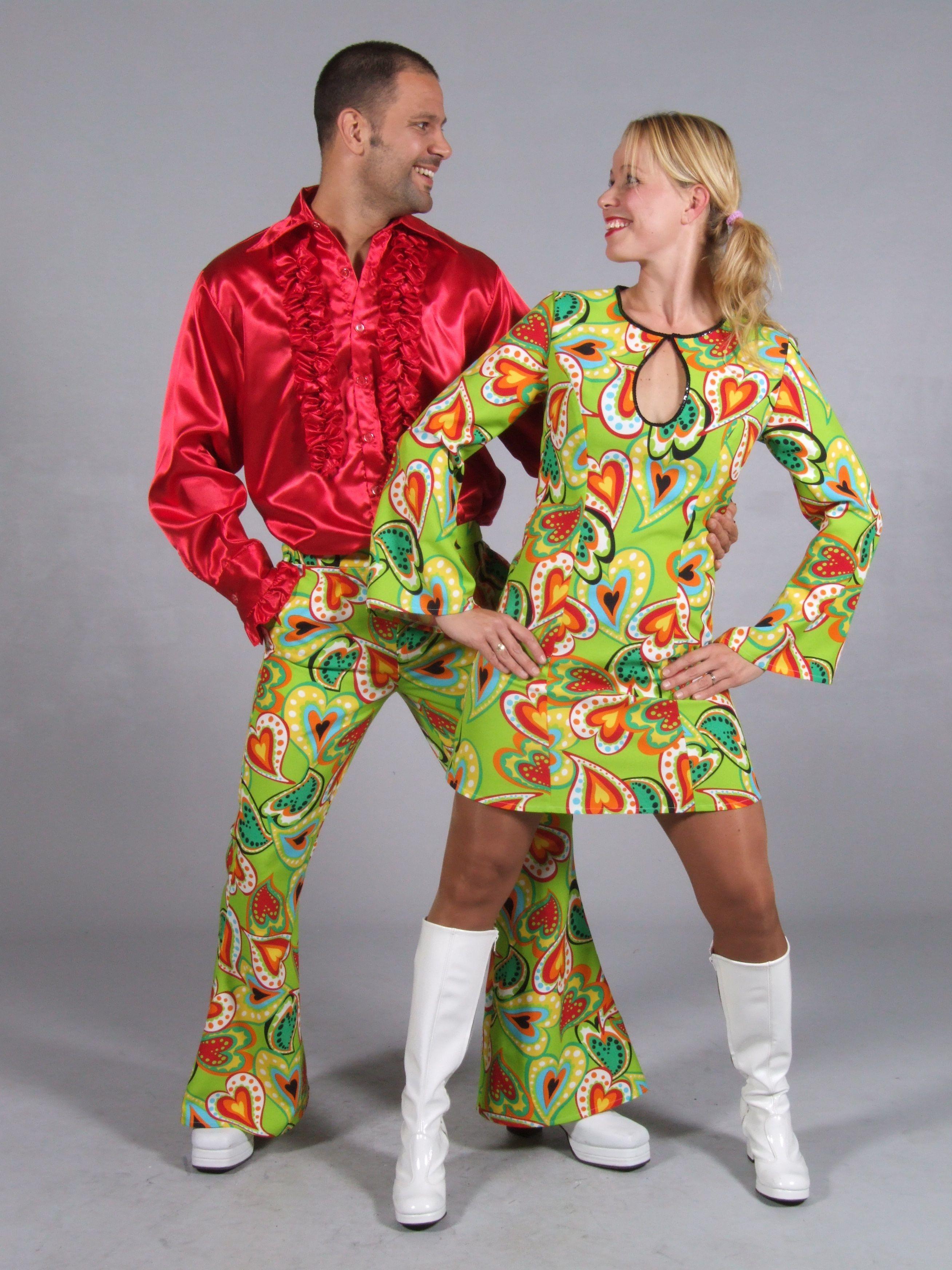 VINTAGE Jumpsuit 70er anni Overall L 42-44 Retrò Da Donna Costume Hippie settanta