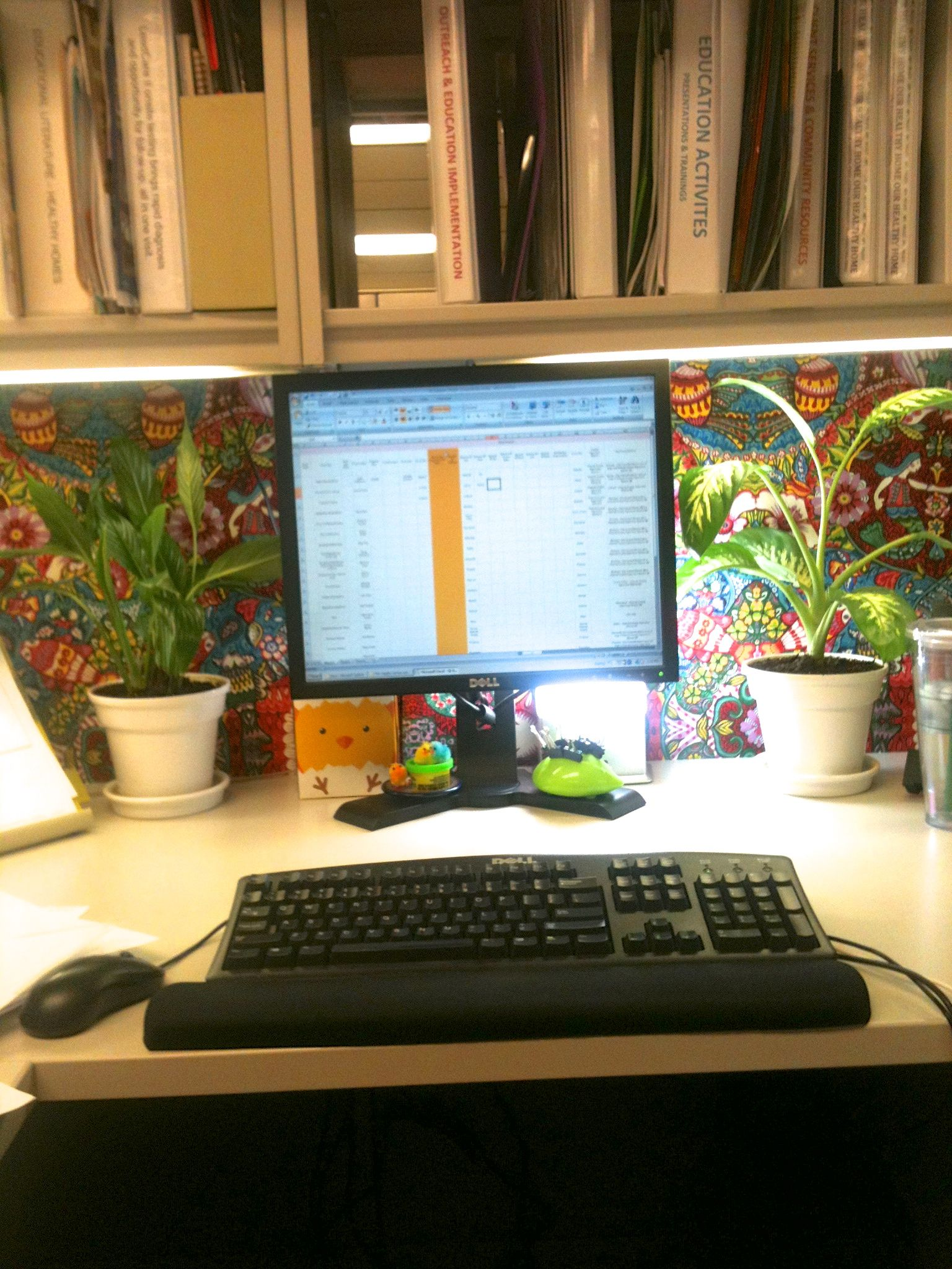 My Newly Upholstered Cubicle Wall Thanks To Apartment Therapy For