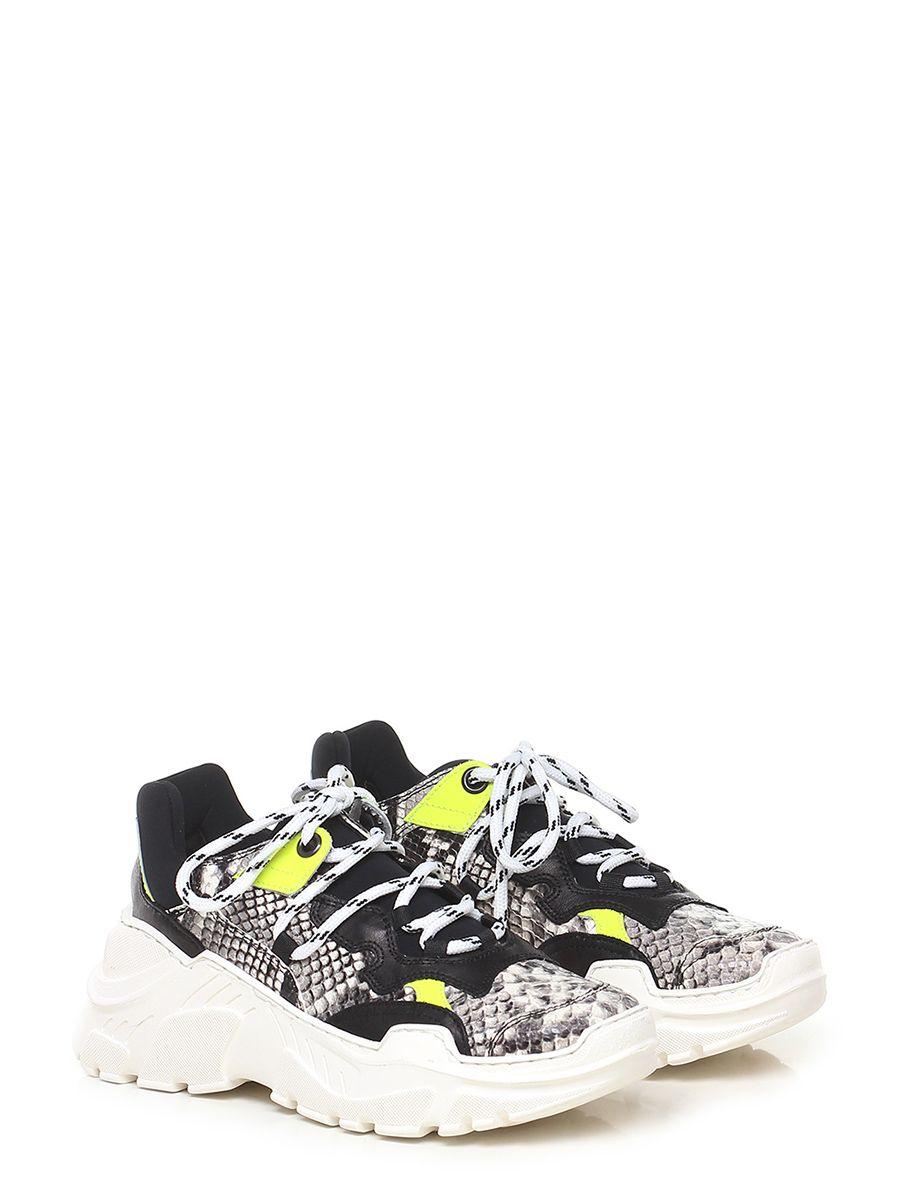 dd496603bdd64 Sneaker in pelle stampa effetto pitone e pelle con inserto elasticizzato su  retro e linguetta. suola in gomma