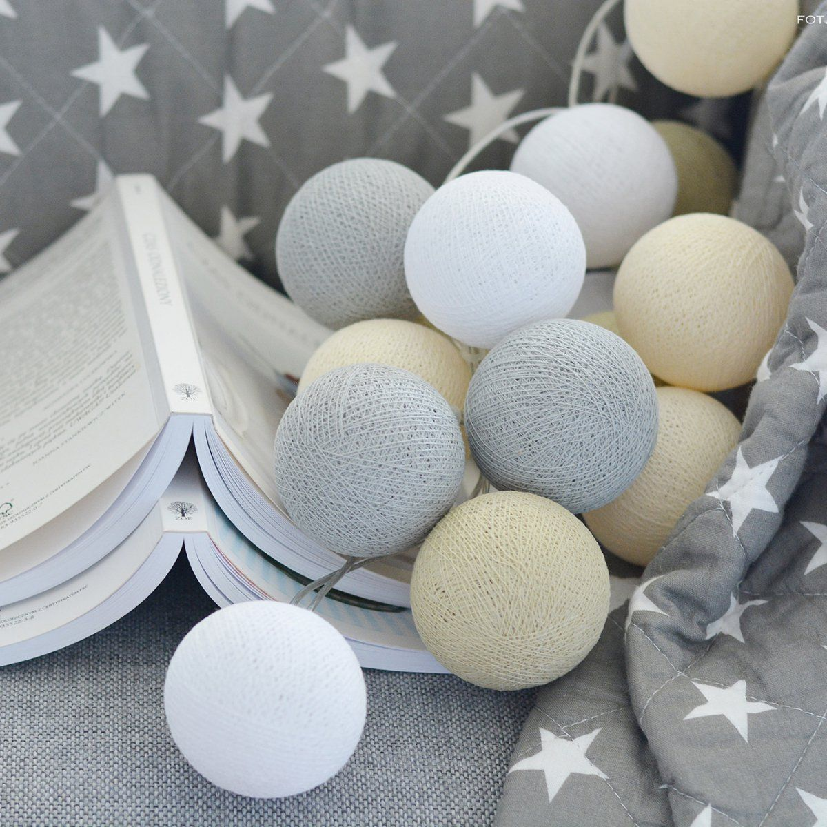 Cotton ball lights c utare google kids room - Baby jungenzimmer ...